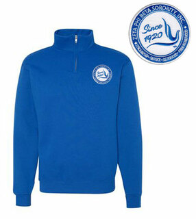 DISCOUNT-Zeta Phi Beta Since 1920 1/4 Zip Pullover
