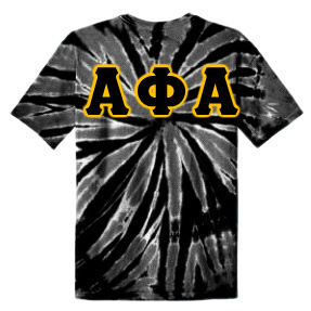 DISCOUNT-Alpha Phi Alpha Essential Tie-Dye Lettered Tee