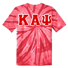 DISCOUNT-Kappa Alpha Psi Essential Tie-Dye Lettered Tee