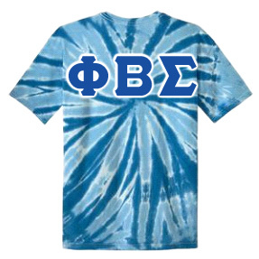 DISCOUNT-Phi Beta Sigma Essential Tie-Dye Lettered Tee