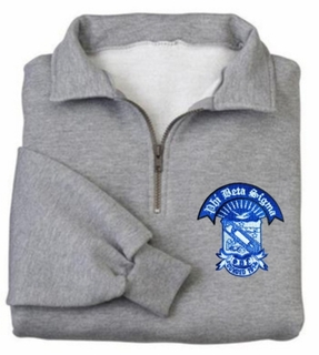 DISCOUNT-Tall 1/4-Zip Greek Sweatshirt