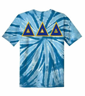 DISCOUNT-Delta Delta Delta Lettered Tie-Dye t-shirts for only $25!