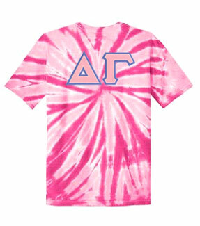 DISCOUNT-Delta Gamma Lettered Tie-Dye t-shirts for only $25!
