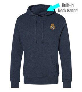 Alpha Phi Omega Crest Gaiter Fleece Hooded Sweatshirt