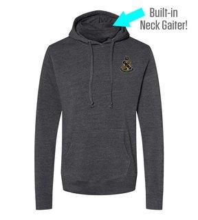 Alpha Sigma Phi Crest Gaiter Fleece Hooded Sweatshirt