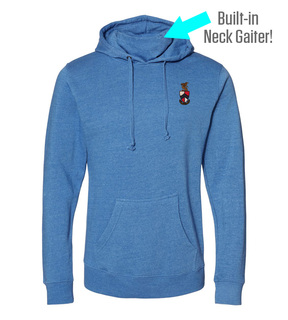 Beta Theta Pi Crest Gaiter Fleece Hooded Sweatshirt
