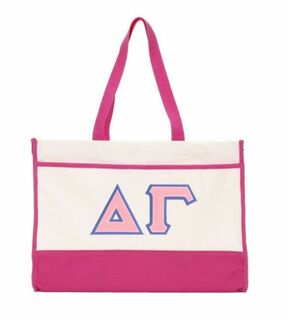 DISCOUNT-Delta Gamma Lettered Contemporary Tote