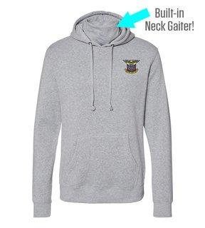 Delta Kappa Epsilon Crest Gaiter Fleece Hooded Sweatshirt