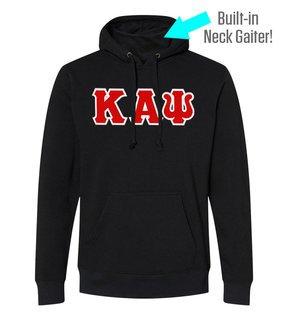 Kappa Alpha Psi Lettered Gaiter Fleece Hooded Sweatshirt
