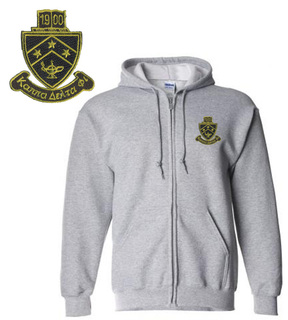 Kappa Delta Phi Crest Emblem Full Zippered Hoody
