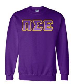 Pi Sigma Epsilon Two Tone Greek Lettered Crewneck Sweatshirt