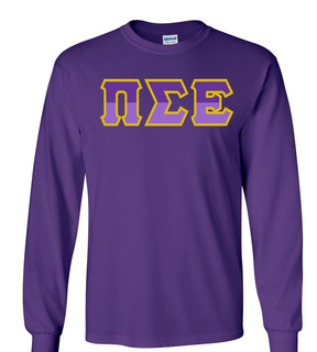 Pi Sigma Epsilon Two Tone Greek Lettered Longsleeve Tee