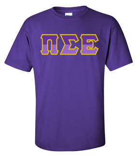 Pi Sigma Epsilon Two Tone Greek Lettered T-Shirt