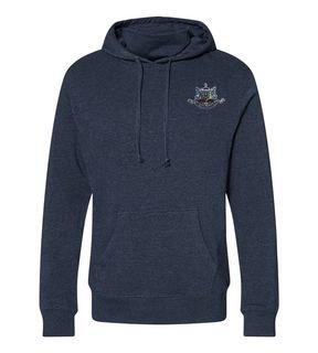 Psi Upsilon Crest Gaiter Fleece Hooded Sweatshirt