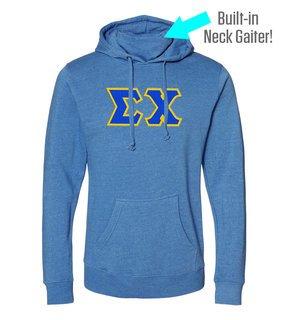 Sigma Chi Lettered Gaiter Fleece Hooded Sweatshirt