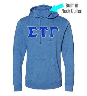 Sigma Tau Gamma Lettered Gaiter Fleece Hooded Sweatshirt