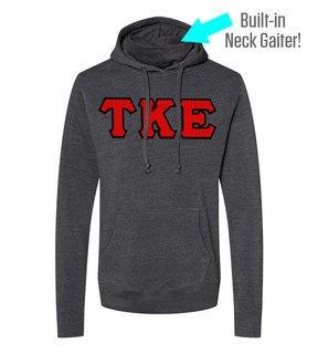 Tau Kappa Epsilon Lettered Gaiter Fleece Hooded Sweatshirt
