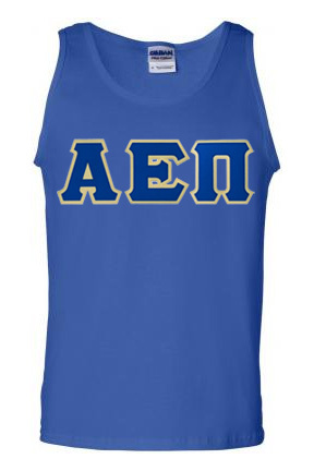$18 Fraternity Lettered Tank Top