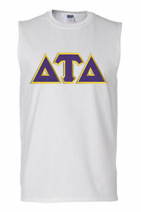 DISCOUNT- Delta Tau Delta Lettered Sleeveless Tee