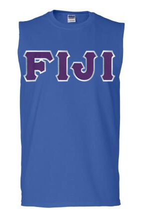DISCOUNT- FIJI Fraternity Lettered Sleeveless Tee