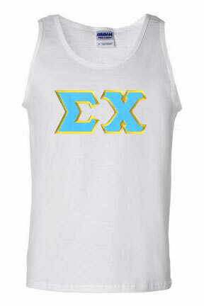 DISCOUNT- Sigma Chi Lettered Tank Top