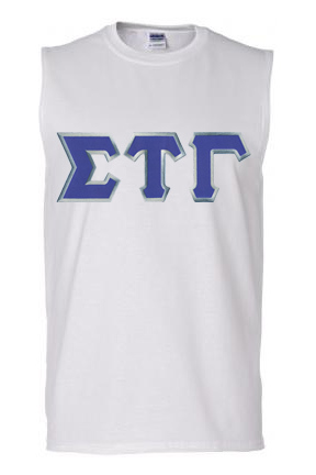 DISCOUNT- Sigma Tau Gamma Lettered Sleeveless Tee