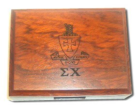Sigma Chi Playing Card Box