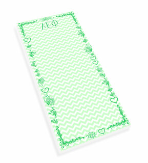 Alpha Epsilon Phi Chevron Long Notepad