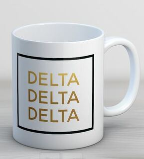 Delta Delta Delta Faux Foil Coffee Mug