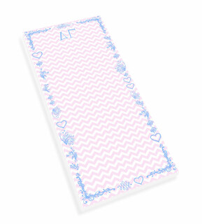 Delta Gamma Chevron Long Notepad