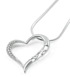 Kappa Delta Sterling Silver Heart Pendant Lavaliere