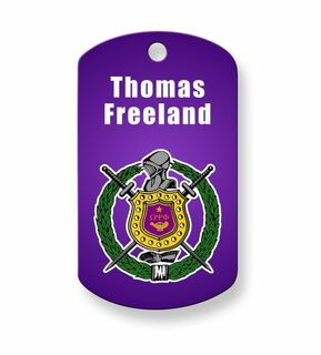 Omega Psi Phi Crest - Shield Dog Tags