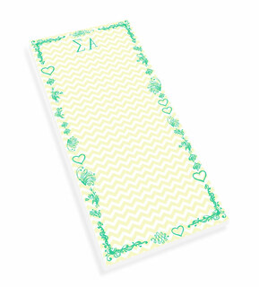 Sigma Alpha Chevron Long Notepad