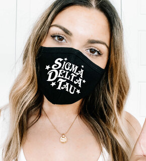 Sigma Delta Tau Star Struck Face Mask