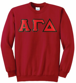 Alpha Gamma Delta Super Saver Letttered Crewneck