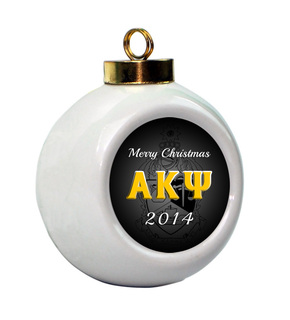Alpha Kappa Psi Holiday Ball Ornament