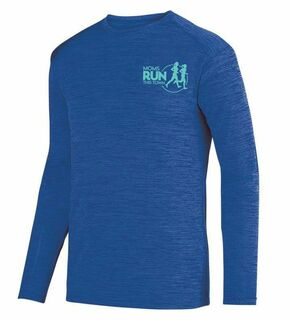 Moms Runs This Town- $20 World Famous Dry Fit Tonal Long Sleeve Tee
