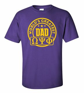 Omega Psi Phi World's Greatest Father T-Shirt