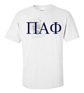 Pi Alpha Phi Greek Crest - Shield T-Shirt
