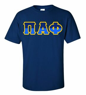 Pi Alpha Phi Two Tone Greek Lettered T-Shirt
