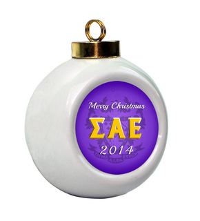 Sigma Alpha Epsilon Holiday Ball Ornament