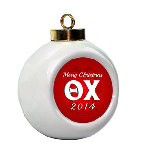 Theta Chi Holiday Ball Ornament