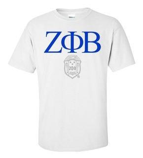 Zeta Phi Beta Greek Crest - Shield T-Shirt