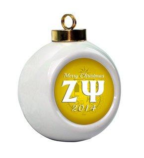 Zeta Psi Holiday Ball Ornament