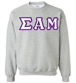 Sigma Alpha Mu Custom Twill Crewneck Sweatshirt