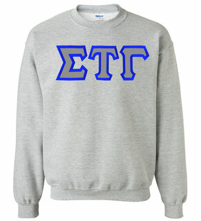 Sigma Tau Gamma Custom Twill Crewneck Sweatshirt