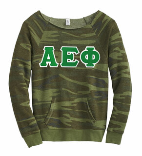 DISCOUNT-Alpha Epsilon Phi Maniac Camo Fleece Sweatshirt