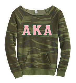DISCOUNT-Alpha Kappa Alpha Maniac Camo Fleece Sweatshirt