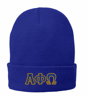 Alpha Phi Omega Big Greek Lettered Knit Cap