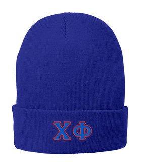 Chi Phi Big Greek Lettered Knit Cap